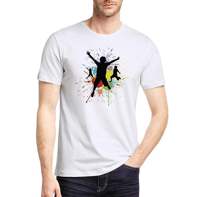 WINWINTOM Moda de Verano Camisetas, 2018 Hombre Camisetas y Polos, Hombres Verano Casual Abstracto