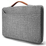 Tomtoc 14 Inch Laptop Sleeve Case for Apple 15' New MacBook Pro with Touch Bar A1707 | 14' HP Acer Chromebook | 14' HP EliteBook | 14' ThinkPad T-Series, 360° Protective Tablet Briefcase, Gray