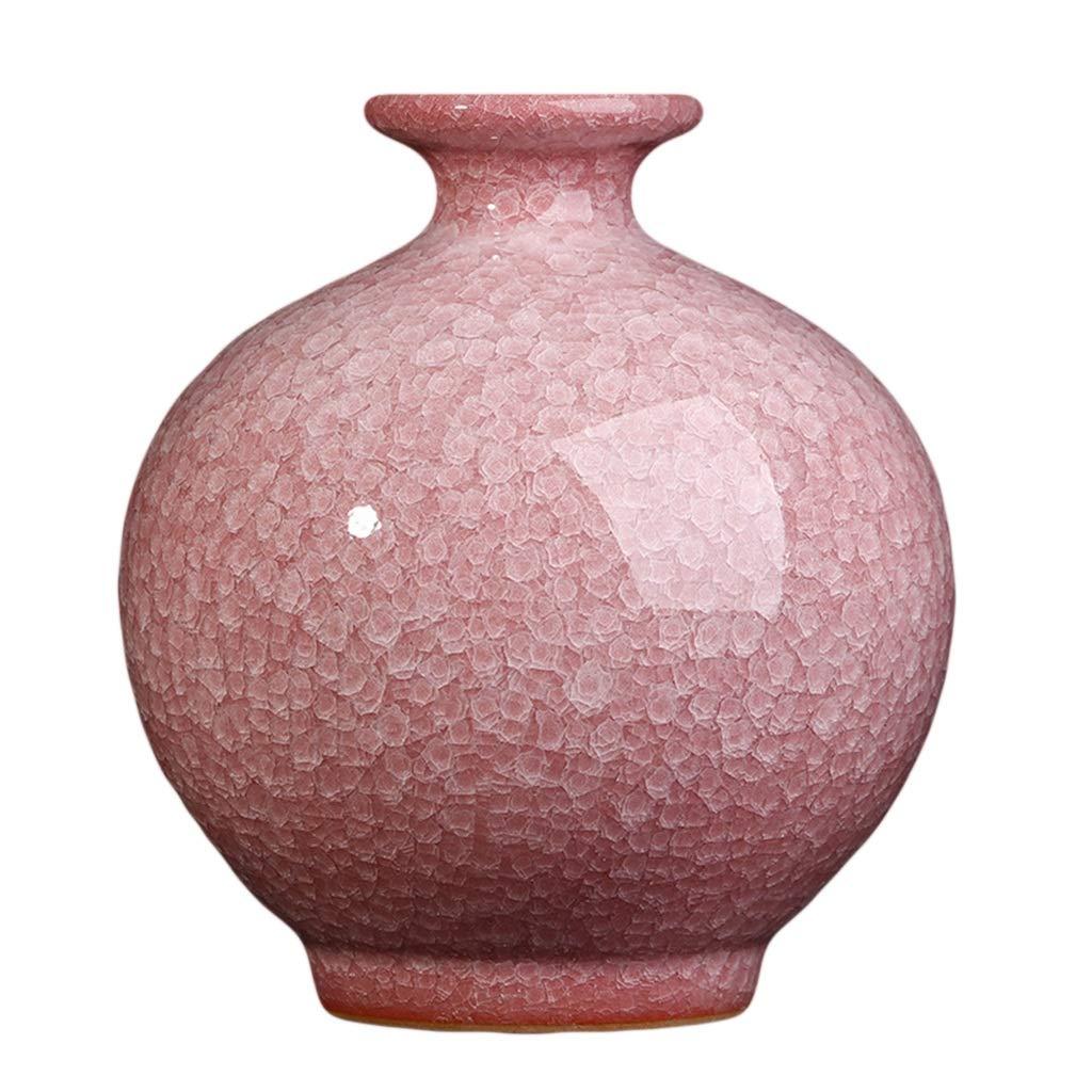 景徳鎮セラミック花瓶花瓶クリエイティブアンティーク新しい中国の家庭用リビングルームの装飾テレビキャビネット装飾(ベース付き) LQX B07RK74KZ6