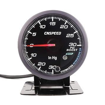 CNSPEED - Medidor de turbo de 60 mm para coche con iluminación blanca y ámbar: Amazon.es: Coche y moto