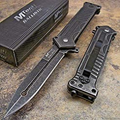 MTECH Tactical Stonewashed Dagger Spring...