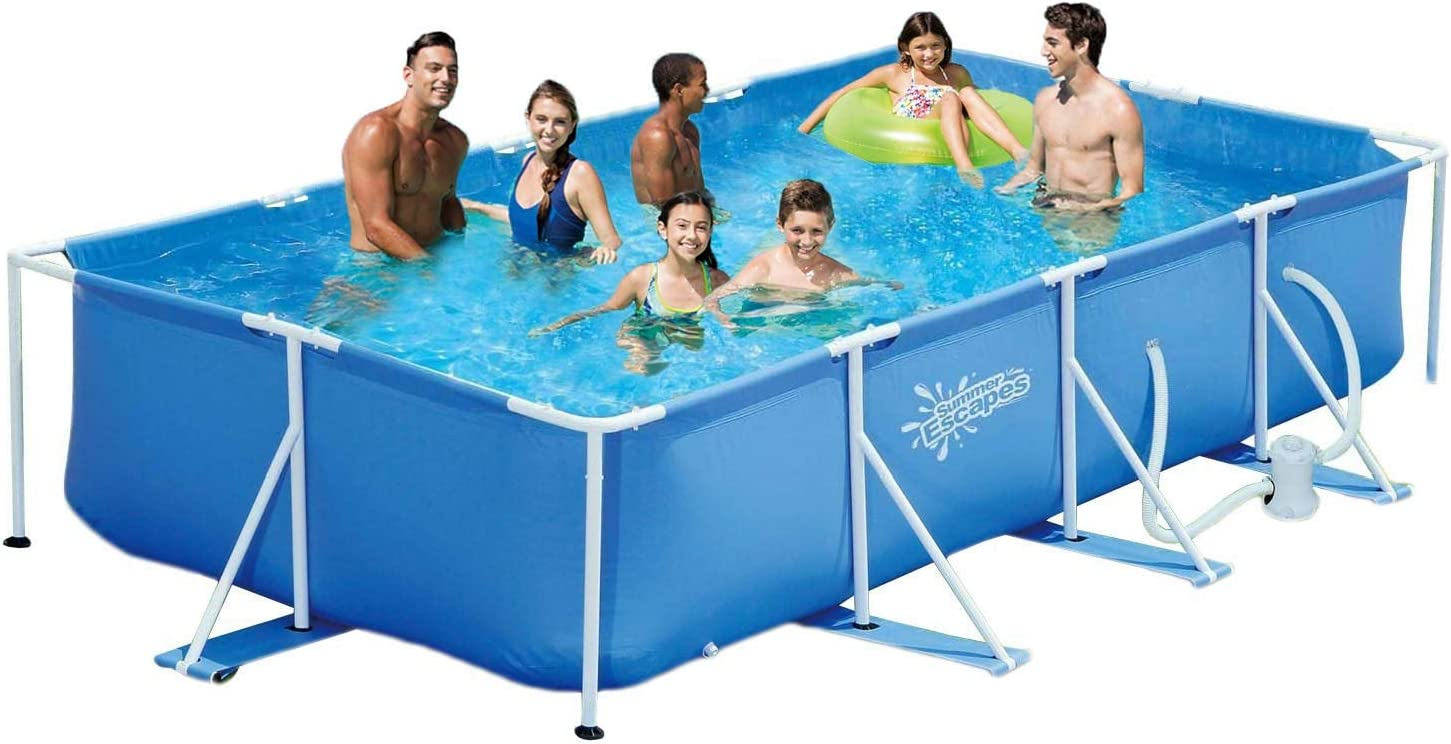 Summer Escapes Piscina estructural de 427 x 244 x 91 cm, piscina ...