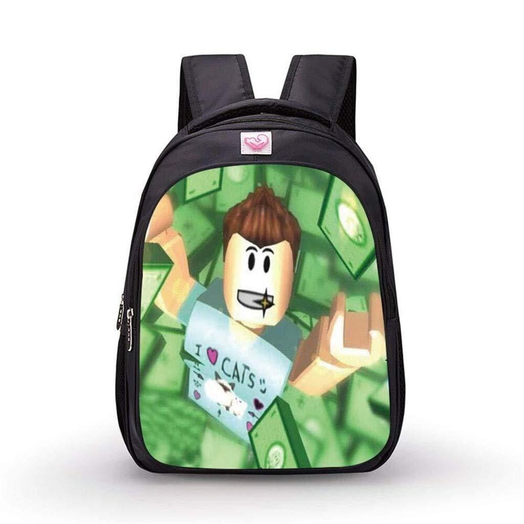 GTYY-Roblox Casual Boys Girls Backpack Kids Gift Bag Game Student School Bags Cartoon Book Bag Action Toys Niños Regalo de cumpleaños for Uso...