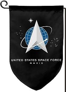 Juhucc Trump Space Force Flag Garden Flag,Lndoors Outdoors American Flag Banner Banner Flag 12.5x18in