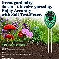 Swiser Soil PH Meter,3-in-1 Soil Test Kit for Moisture, Light & PH Test, Indoor/Outdoor Plant Care Soil Tester, for Home and Garden, Farm, Plants, Herbs & Gardening Tools-No Battery Needed