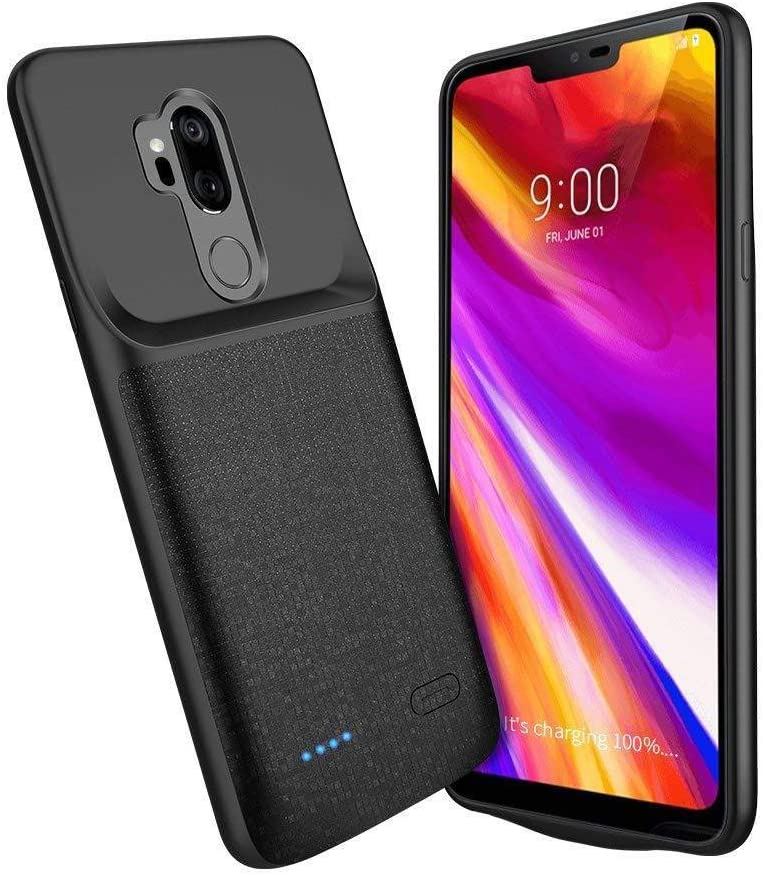 Idealforce Compatible with LG G7 ThinQ Battery Charger Case,4700mAh External Backup Power Bank Pack Battery,Portable Power Charger Charging Case for LG G7