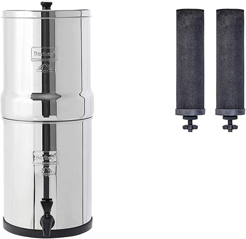 Travel Berkey® Filtro de agua por gravedad con 2 elementos de ...