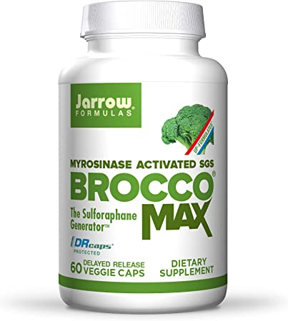 Jarrow Formulas BroccoMax - 60 Veggie Capsules - 20x More Concentrated Than Broccoli - Supports Healthy Cell Replication & Liver Health - 30 Servings