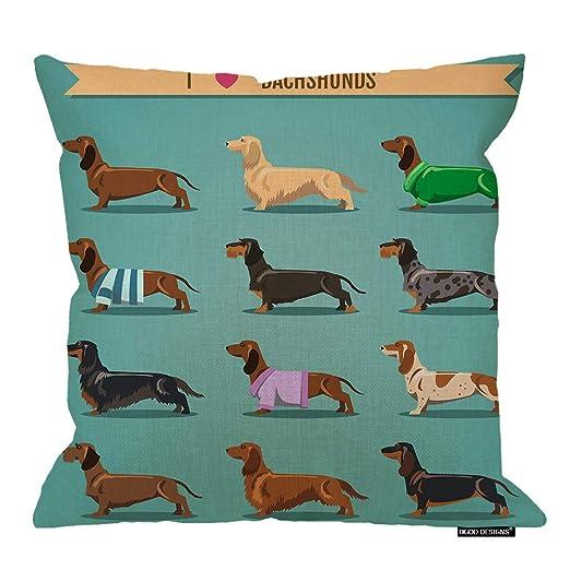 HGOD DESIGNS funda de cojín para perro, lindo patrón de ...