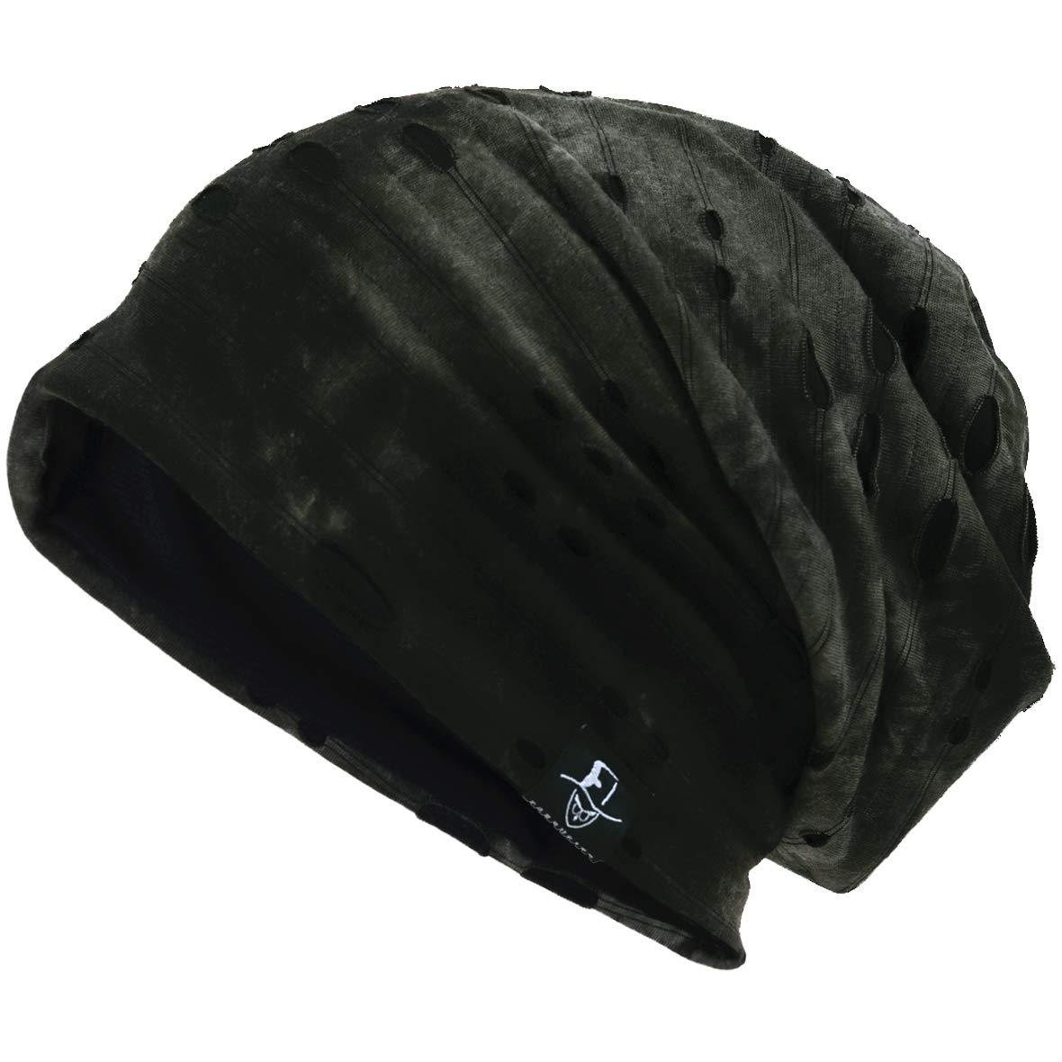 Hombre Jersey Slouch Gorro Verano Skullcap