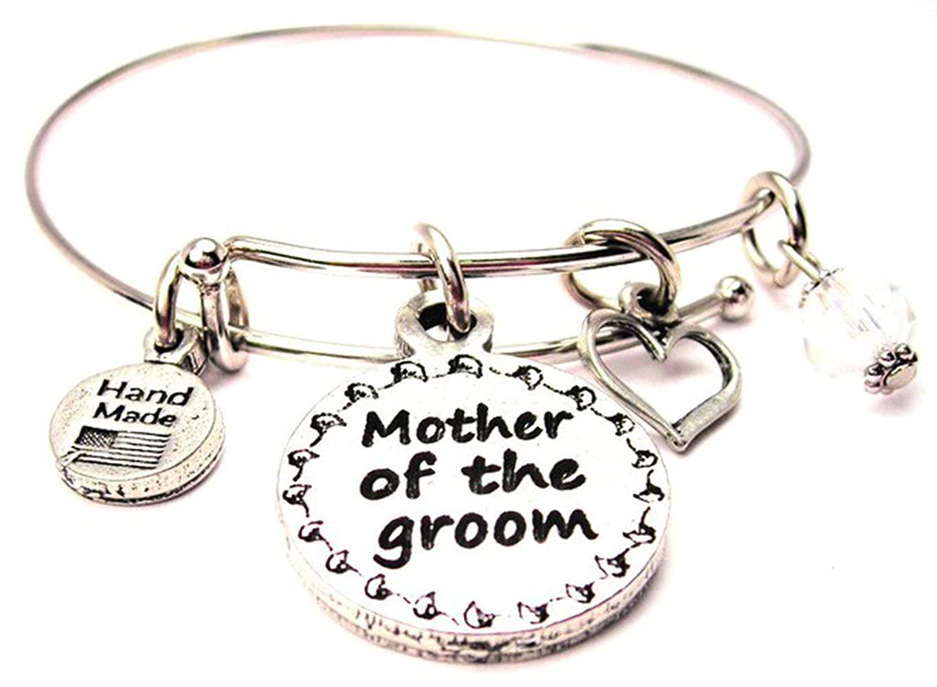 ChubbyChicoCharms God Bless You Adjustable Wire Bangle Bracelet