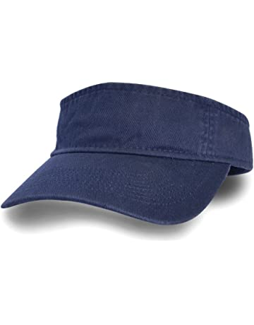 8574349b0ca75 Sun Visor Sports Cotton Twill Plain Hat with Adjustable Strap for Men Women  Outdoor Golf Tennis