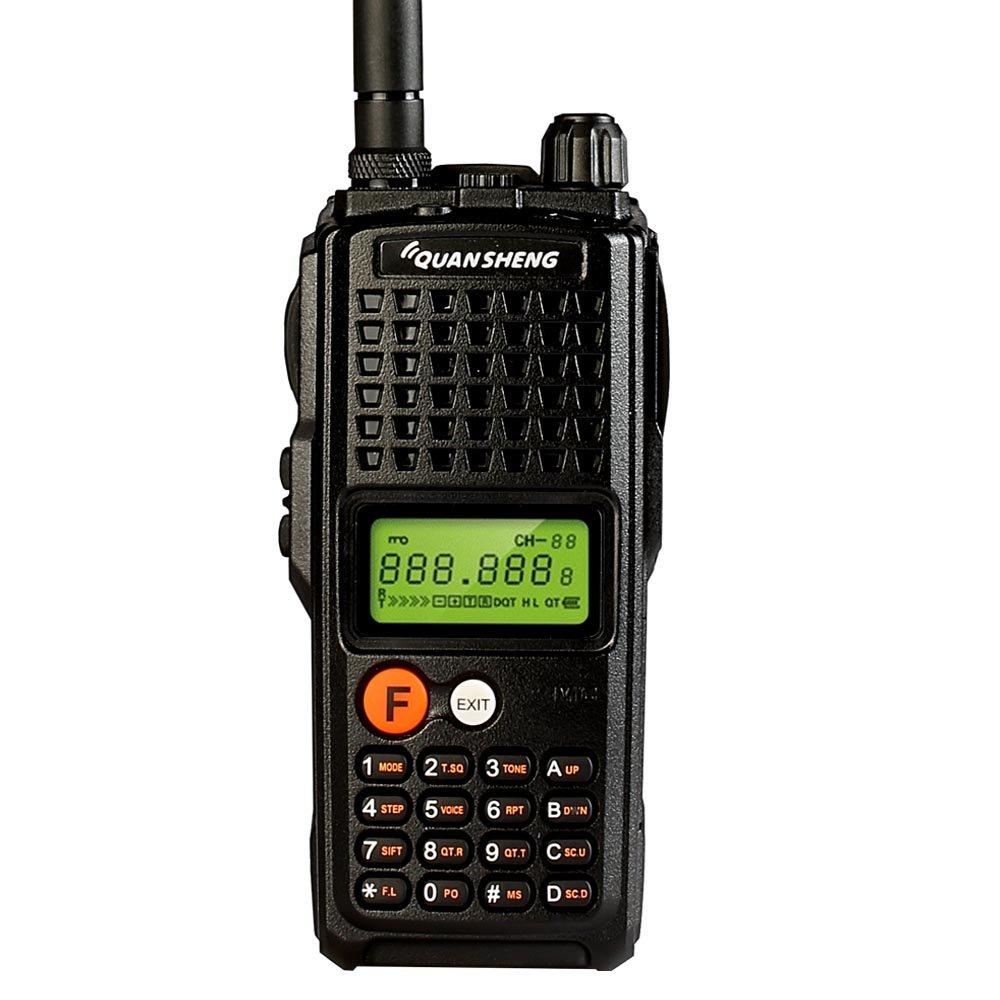 Quansheng K10AT 10-Watt Rechargeable Two-way Radios Long Range Walkie Talkies (400-470MHz UHF) Ham Amateur Radio with 4000mAh Large Battery