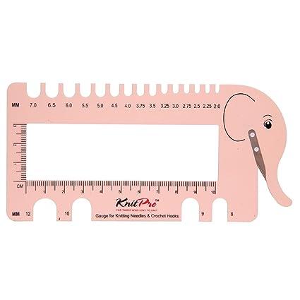 KnitPro Nadel und Häkelarbeiten View Ringmaß geliefert mit Garn Cutter, Plastik, Blush, 30 x 35 x 30 cm