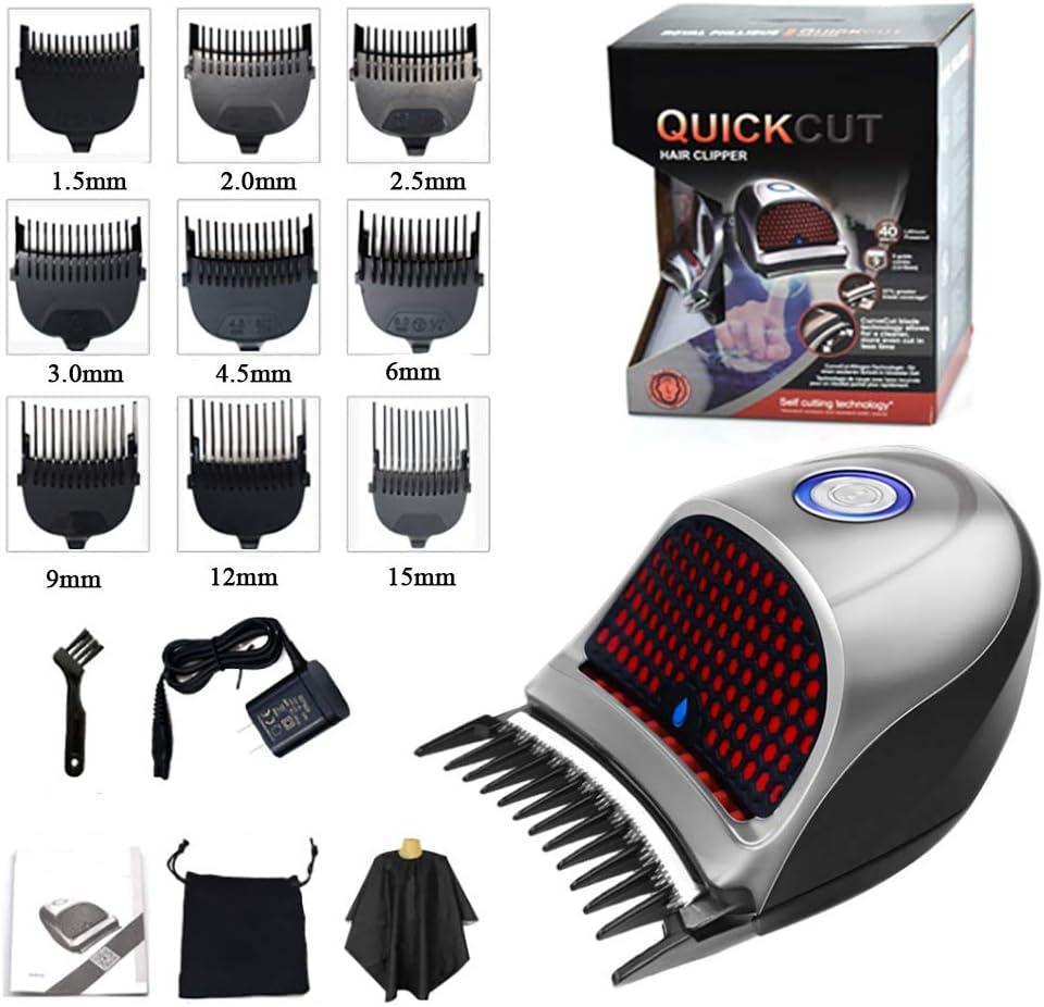 Pro Kit de corte de pelo, 9 en 1 barba Trimmer Hombres, inalámbrico recargable eléctrica cortadora de cabello, bajo nivel de ruido de la máquina de afeitar, lavable belleza herramientas de modelado
