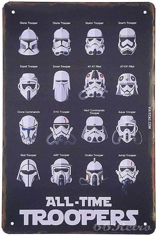 Star Wars Troopers Cartoon Movie Embossed Metal Tin Sign Home Garage