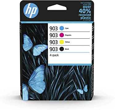 Hp 903 Multipack Blau Rot Gelb Schwarz Original Druckerpatronen Für Hp Officejet 6950 Hp Officejet Pro 6960 6970 Bürobedarf Schreibwaren