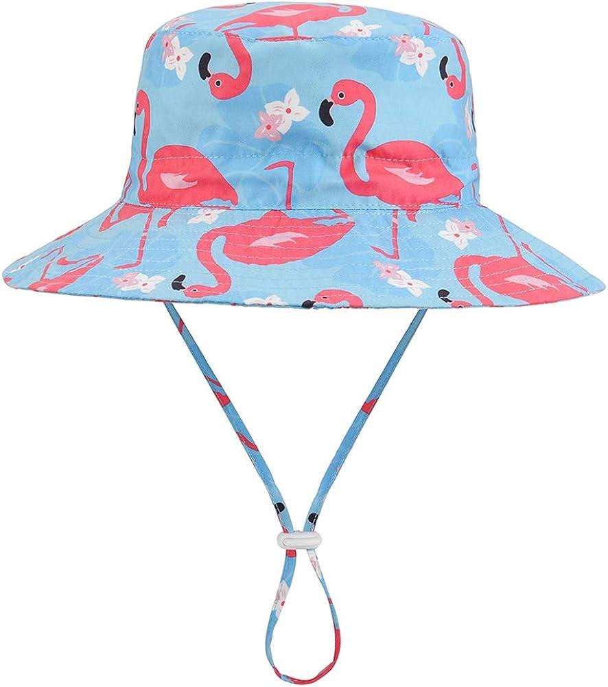 Wide Brim Chin Strap Summer Play Hat Baby Sun Hat Adjustable Outdoor Toddler Swim Beach Pool Hat Kids UPF 50