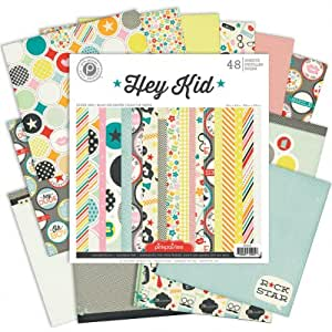 Pink Paislee Hey Kid Paper Pad, 12 by 12-Inch