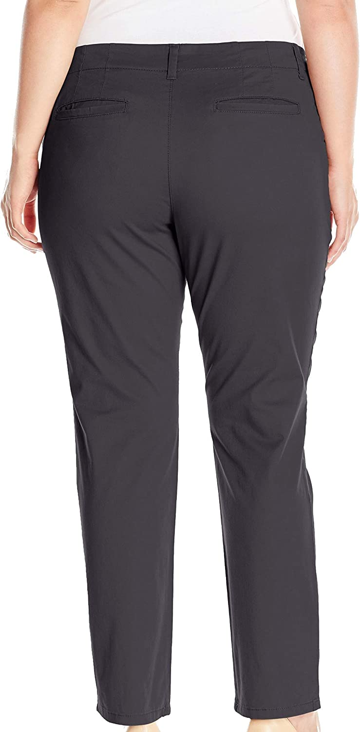 LEE Womens Plus Size Midrise Fit Essential Chino Pant