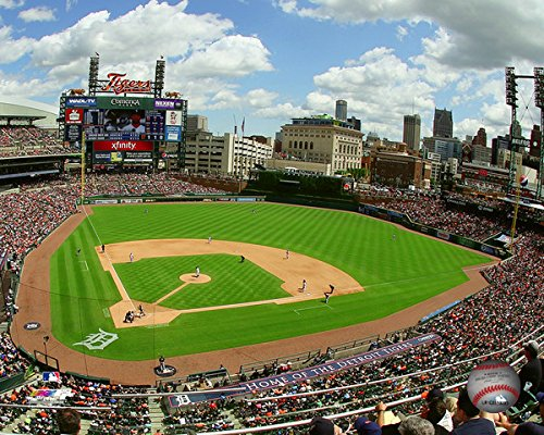 Detroit Tigers Comerica Park 2015 MLB Stadium Photo (Size: 11