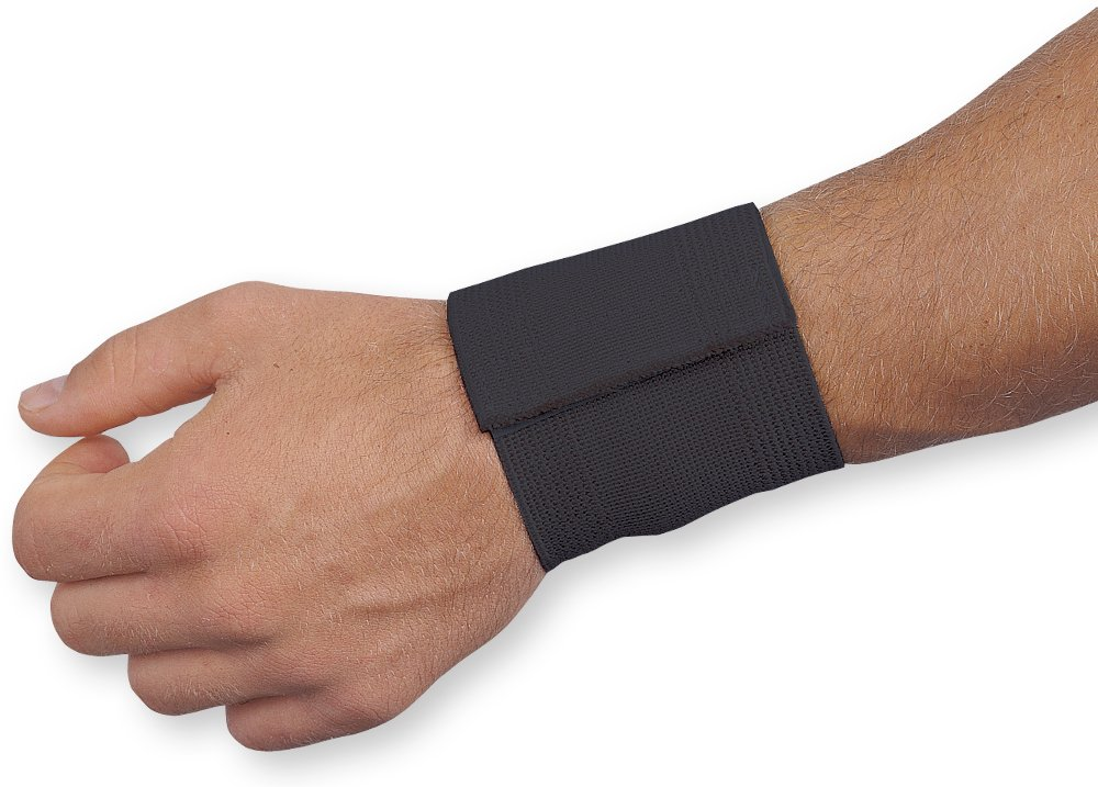 WellWear Cotton Elastic Wrist Support, One Size (Pack of 12)