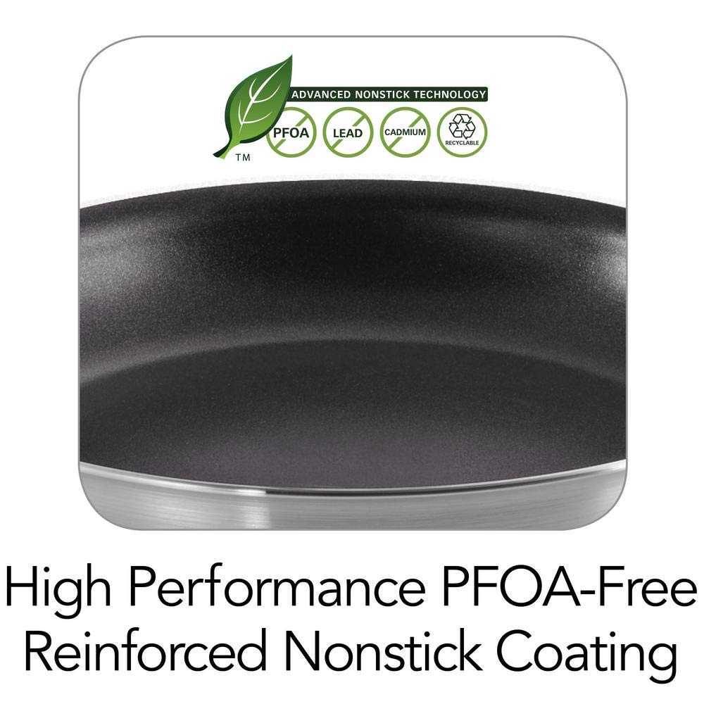 Tramontina 80114/535DS Professional Aluminum Nonstick Restaurant Fry Pan, 10'', NSF-Certified, Made in USA by Tramontina (Image #3)