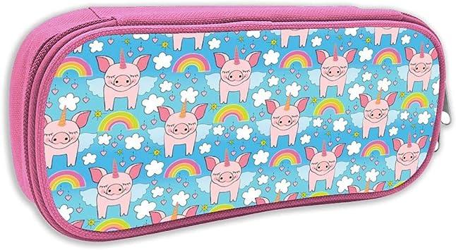 Estuche de lápices Infantil,Cerdos Unicornio, Rosa: Amazon.es: Juguetes y juegos