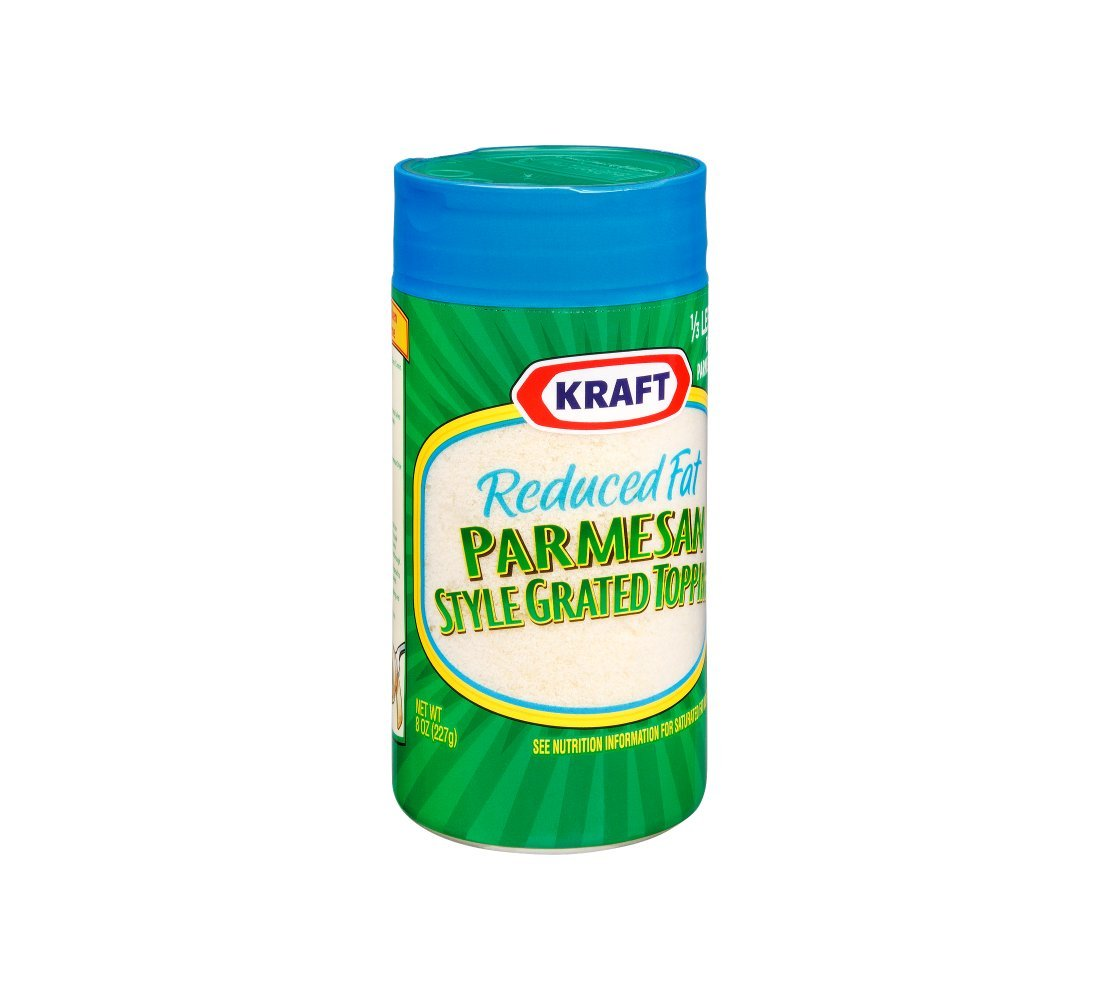 Kraft Grated Parmesan Cheese, 8 Ounce -- 12 per case.