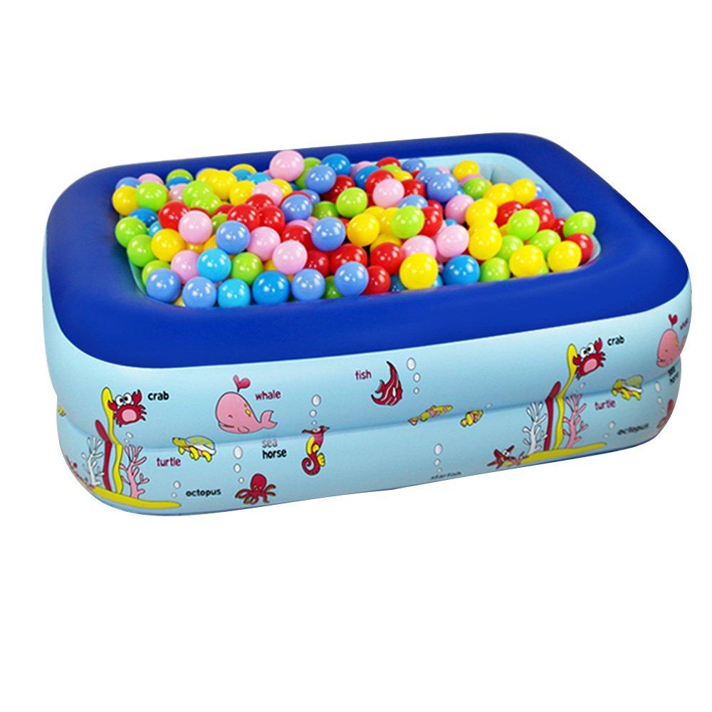 Hw bathtub Infants Children's Inflatable Folding Pool Cartoon Material: PVC Size: 2 Layers: 115X85X35cm, 3 Layers: 130X85X55cm, 155X125X55cm, 5 Layers: 115X90X75cm Bathtub (Color : A)
