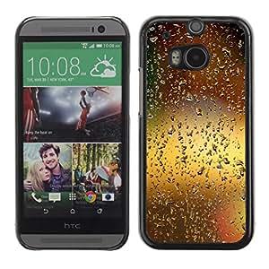 YiPhone /// Prima de resorte delgada de la cubierta del caso de Shell Armor - Water Drop Bokeh;; - HTC One M8
