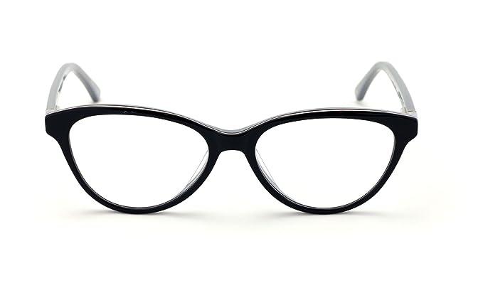 8959772b13 Women Vintage Fashion Acetate Non-prescription Glasses Frame Clear Lens  Eyeglasses (Black)