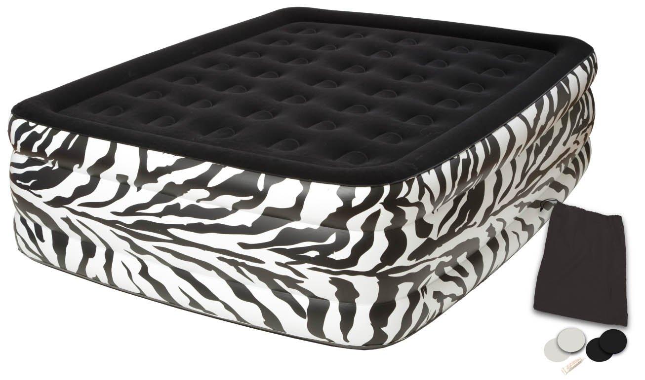 Pure Comfort Waterproof Flock Top Zebra Bed