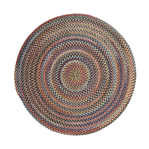 Colonial Mills Rustica Round Braided Rug, 6', Classic/Multicolor - Wool: Wool yarns create a texturized, heathered look with unmatched quality, durability, and timeless style. Handcrafted: Manufactured at our factory in Rhode Island, this item is made-to-order and handcrafted with a personal touch of American craftsmanship. Reversible: This rug is crafted to last... and last. Reversibility adds longevity with twice the wear and tear. - living-room-soft-furnishings, living-room, area-rugs - 615jYRTMUYL. SS570  -
