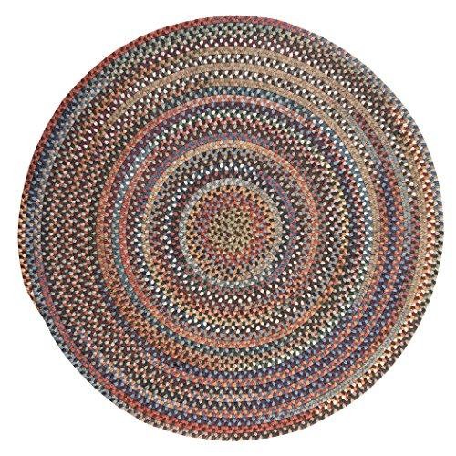 615jYRTMUYL - Rustica Round Braided Rug, 6', Classic/Multicolor