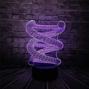 Mddjj 2018 Rgb 3D Adn Usb Lámpara Led Multicolor Cambio De Luz Nocturna Hogar Bombilla Decorativa