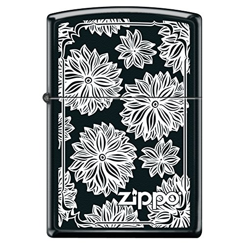 (Zippo Custom Design Lighter Wild Flowers Windproof Collectible. Made in USA Limited Edition & Rare)