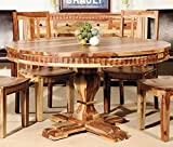 Aishni Home Furnishings SH36 Sahara Round Dining Table-Top, 58'' x 58''