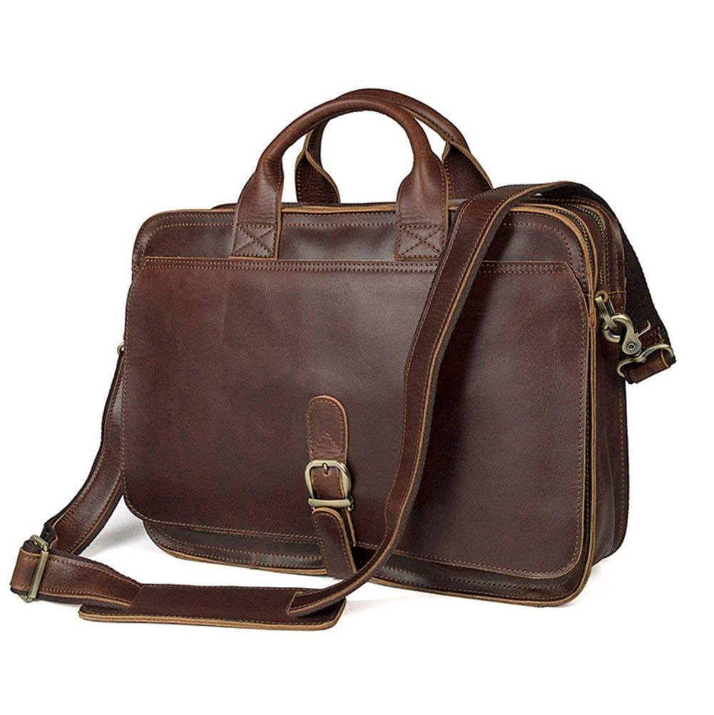 SHISHANG Herren Frühling Sommer Herren Taschen Casual Taschen Retro Fashion Handtaschen Geschäft Taschen Dunkelbraun Umhängetaschen Messenger Bags ZYXCC