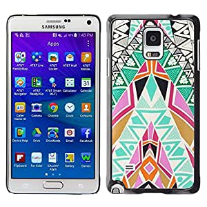 Be Good Phone Accessory // Dura Cáscara cubierta Protectora Caso Carcasa Funda de Protección para Samsung Galaxy Note 4 SM-N910 // Art Patterns Colorful Spiritual