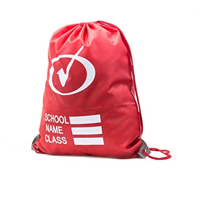 Tick - Red Plimsoll Bag with Reflective Panels - Size 1 UK / 2 Youth US