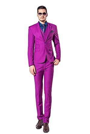 0cae0b06 Lilis Men's Mens Designer Suit 3 Piece Suits Ideal for Weddings ...