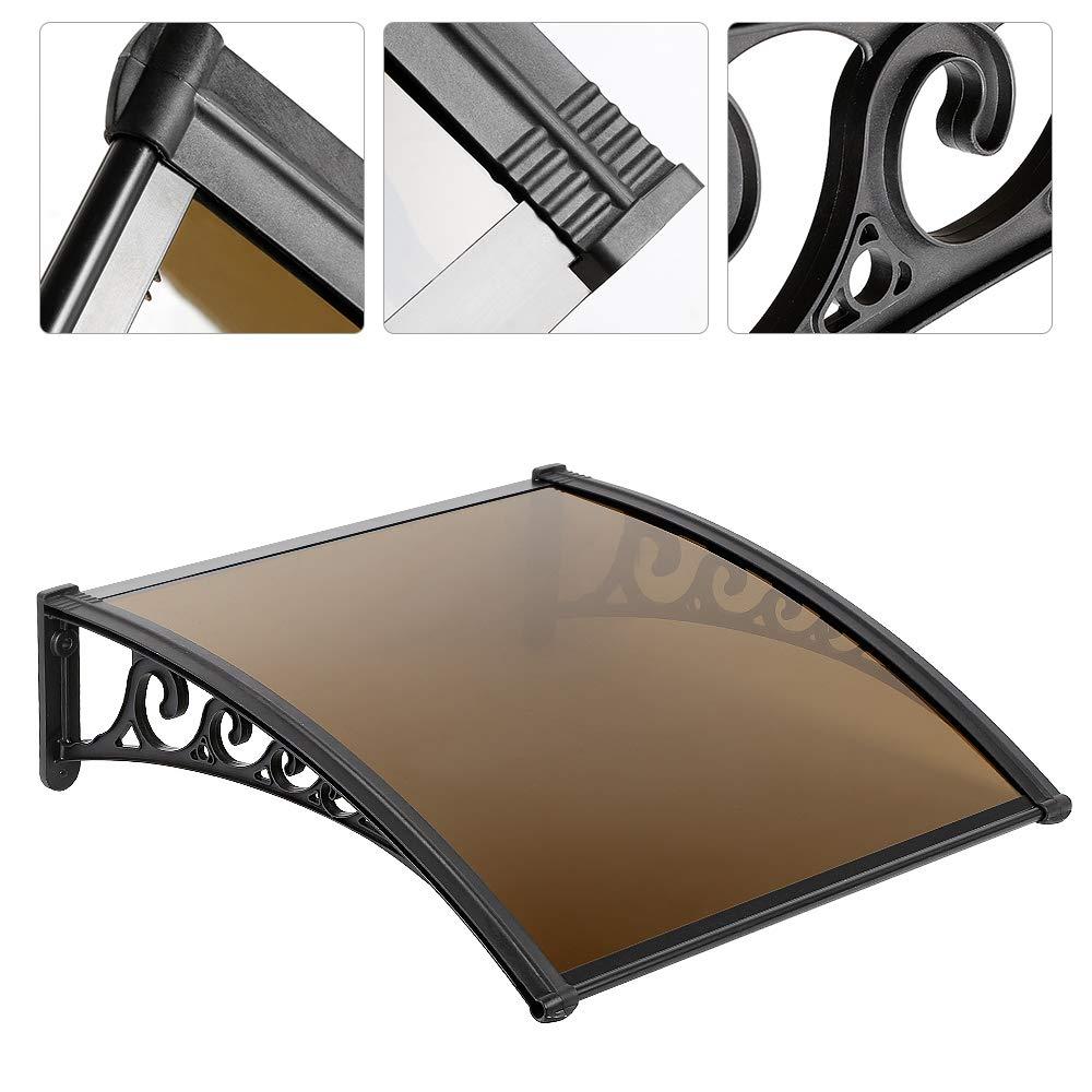 Tablero de PC s/ólido 75 * 125 cm, marr/ón Marquesina para puertas ventanas toldo cubierta