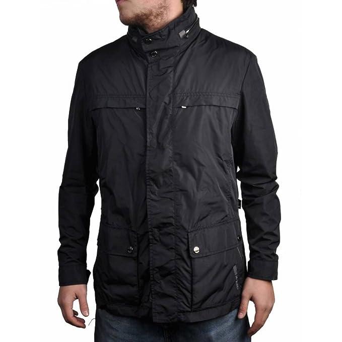 Giacca da uomo, colore nero, marca Geox, modello da uomo