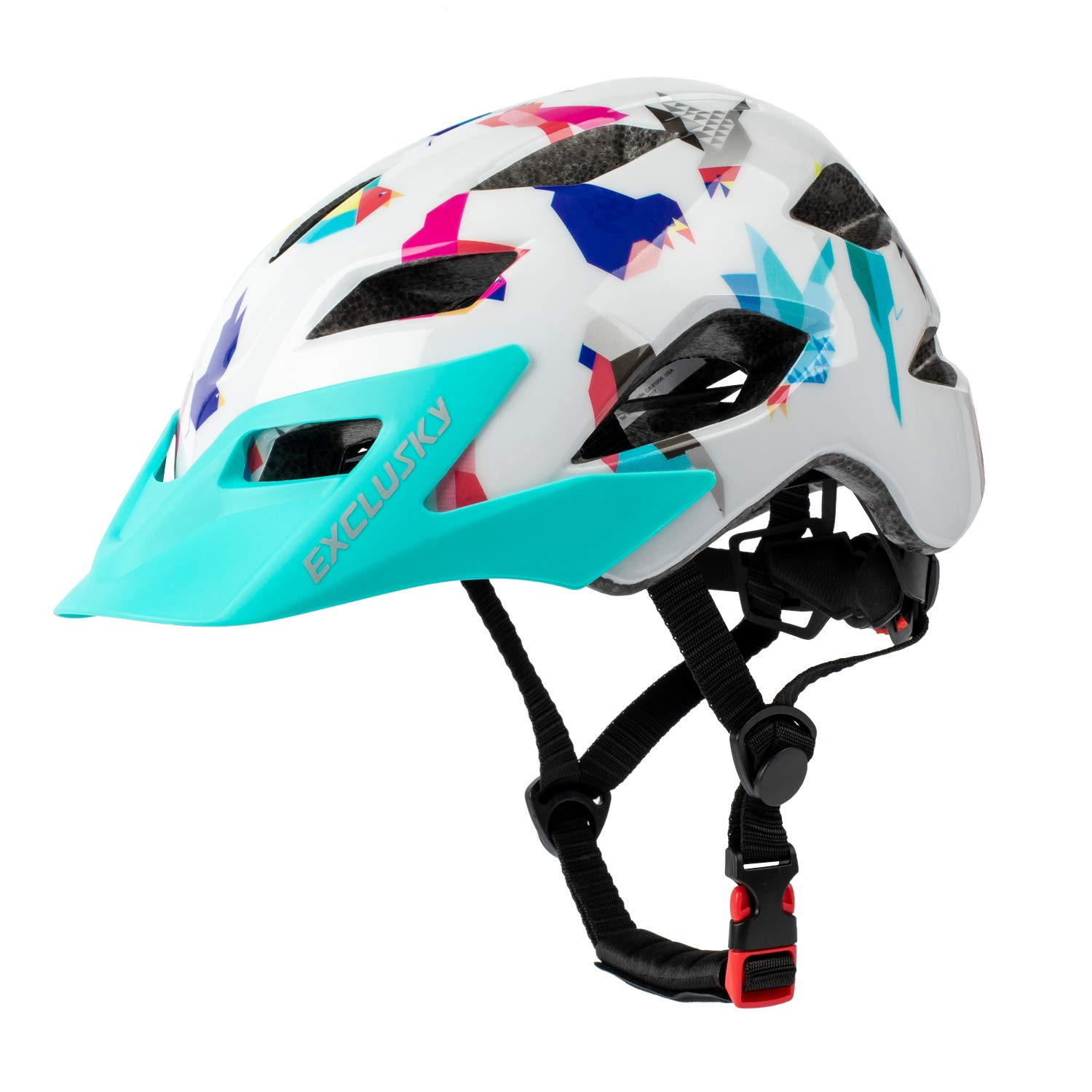 Exclusky Kids Bike Helmets, Lightweight Bicycle Cycling Helmet, Adjustable  Scooter Helmet for Boys Girls 50-57cm(Ages 5-13): Amazon.in: Sports,  Fitness & Outdoors