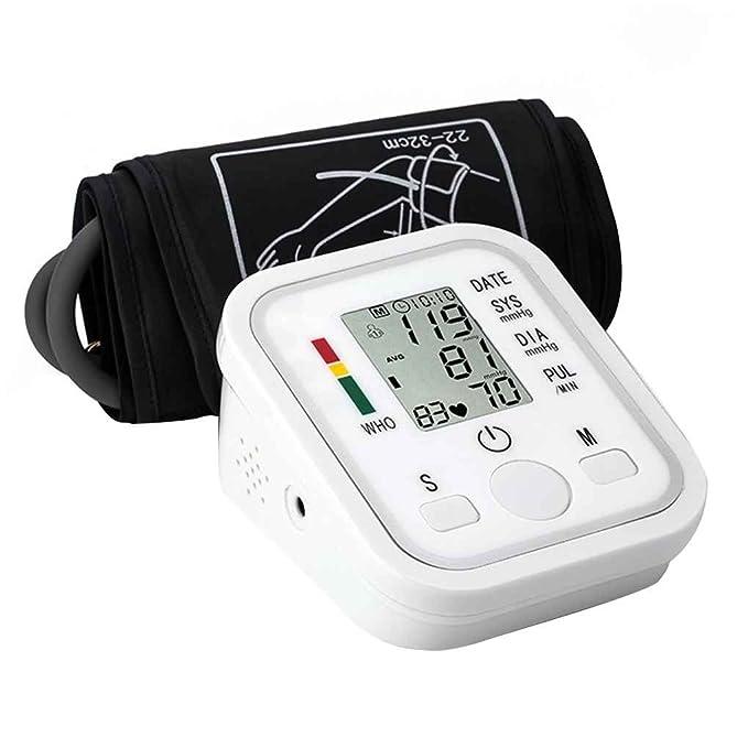 Pandiki LCD Digital automático de muñeca Monitor de presión Arterial del Golpe de corazón del Pulso del Ritmo Medidor Brazo del pulsómetro: Amazon.es: Hogar