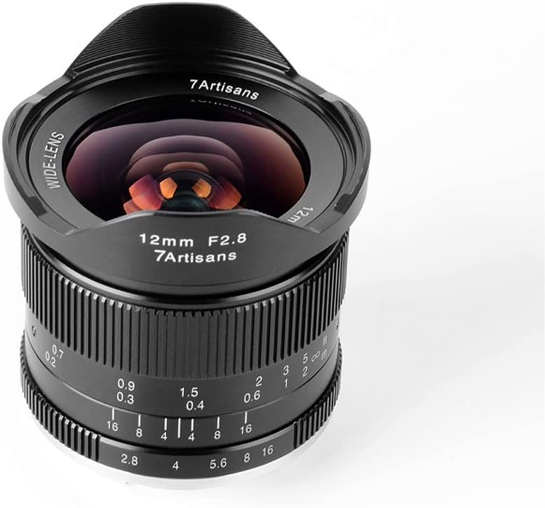 7artisans 12mm F2.8 Ultra Wide Angle Manual Focus APS-C Fixed Lens for Canon EOS-M Mount M1 M2 M3 M5 M6 M10