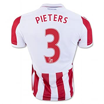 2016 2017 Stoke City FC Camiseta de 3 Erik Pieters casa fútbol Jersey de flores en