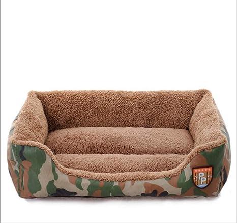 GZDXHN Casa de Perro Mascota Nido Estilo de Camuflaje de la ...