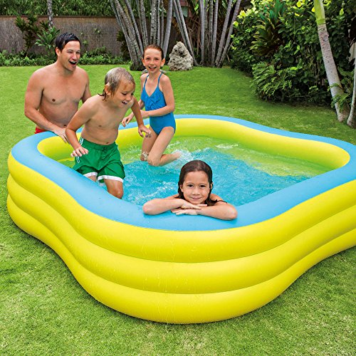 "Intex Swim Center Family Inflatable Pool, 90"" X 90"" X 22"", for Ages 6+"